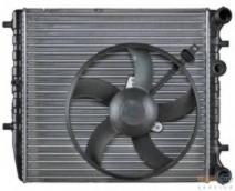 Радиатор основной+ вентилятор охлождения двиг. (VW POLO, Skoda Rapid, Fabia, Audi A1 1,2-1,6)