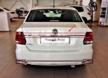 Молдинг крышки багажника центральный хром Volkswagen Polo (2015-нв)