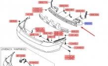 Усилитель задний Hyundai Accent / Verna (2006-2010)