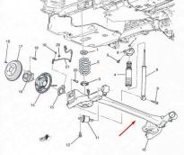 Балка задняя Chevrolet Aveo T300 (2011-2018) Оригинал