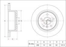 Диск тормозной задний 288мм LEXUS RX300 (98-03) \ TOYOTA CAMRY V35\V45 (01-11) \ Harrier (97-01)