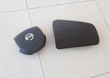 Комплект крышек Airbag/ накладка подушки безопасности пассажира и водителя Nissan Almera Classic B10 (2006-2013)