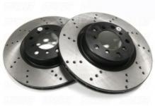 Тормозные диски передние перфорированные LEXUS RX300 /RX330 /RX350 /RX400H (2003-2008) / TOYOTA HARRIER (2003-2012) / KLUGER (2005-2007) комплект 2шт