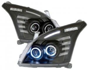 Фары диодный \ тюнинг комплект \ черные с линзой TOYOTA LAND CRUISER PRADO J120 (2002-2009) фара левая + правая