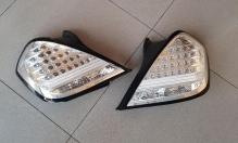 Фонари задние LED комплект / тюнинг Nissan Teana J31 (2003-2008) светлые хром диодные