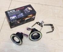 Комплект диодных туманок LED Angel Eyes / диаметр: 76мм / универсальные 12v